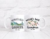 World's Best Grandparents.Grandparents mug set.Grandpa.Grandma.coffee mug.Pregnancy announcement.mug.coffee