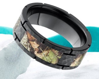 black zirconium camo wedding ringmens black zirconium ring8mmsoldierarmy - Mens Camo Wedding Rings