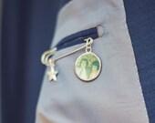 Wedding Memory Photo Charm Keepsake Pin Kit