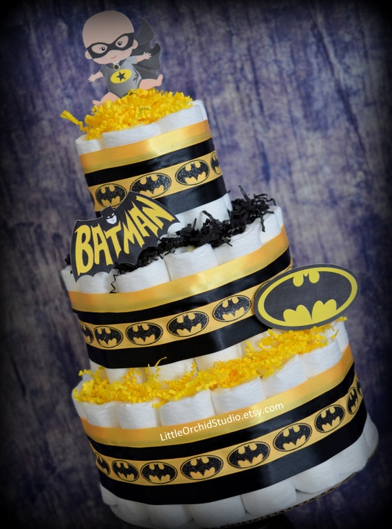 Items Similar To Batman Diaper Cake/ Diaper Cake For Boys/ Superhero Baby  Shower/ Super Baby/ Superhero / Mommy To Be/ Its A Boy/ Batman Baby/ Baby  Boy/ Boy ...
