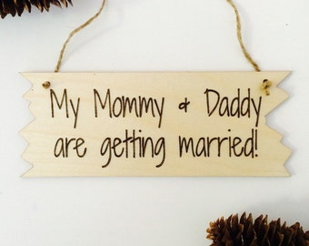 wedding or engagement announcement child / dog - mommy and daddy getting married