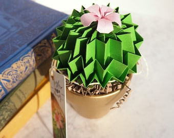 office warming gift. office warming gift cactus persian green origami paper plant u0026 red blossomhome f