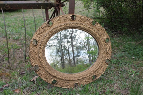 Antique Mirror Old Home Decor Wall Bathroom by OldWorldCharmMe