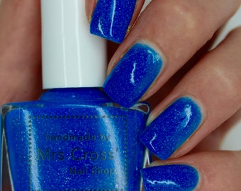 Mullet - 5ml - Bright Blue Neon Nail Polish - handmade in the UK