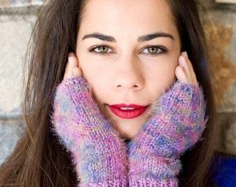 Fingerless gloves arm warmers knit purple fingerless knit fingerless gloves fingerless fingerless mittens personalized womens crochet gloves