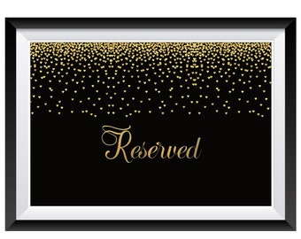 1qty Reserved Sign- Wedding Reserved Sign- Reserved Table Sign- Reserved Chair Sign- Reserved Seating- Reserved Signs for Wedding Event Sign
