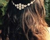Wedding Hair Jewelry, Silver Hair Chain Accessory, Boho Brides, Hippie Beach Wedding, Prom Hair Accessory