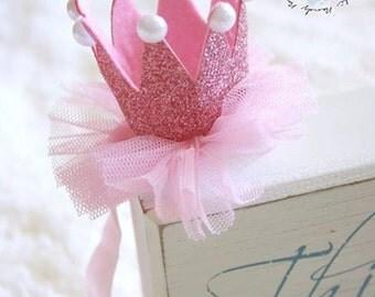 Pink Crown Headband