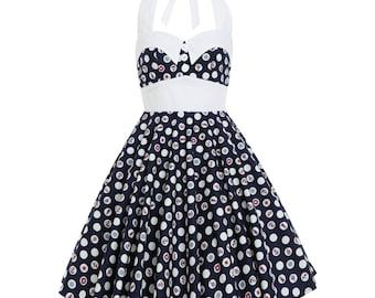 Nautical Dress Summer Dress Anchor Sailor Dress Pin up Dress Rockabilly Clothing Beach Dress 50s Swing Dress Prom Holiday Dress Party Dress