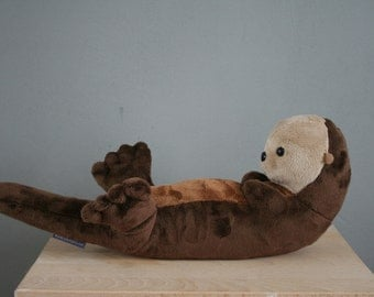 Otto otter, cute otter plush, very soft, 15 inch, made to order