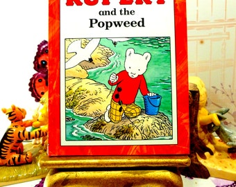 Rupert and the Popweed Vintage Hardback Rupert Book Glossy ladybird Type Book 1st Ed 1991