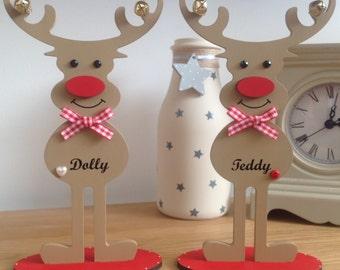 Personalised Reindeer (freestanding 18cm)