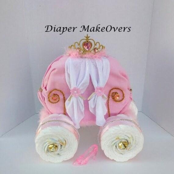 How To Make A Princess Carriage Nappy Cake