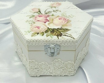 Gift Box , Gifts Under 20 , Unique Jewelry Box , Unique Thank You Gifts , Gift For Her , Shabby Chic Home Decor , Shabby Chic Box