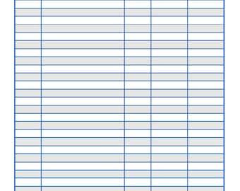 Monthly Bills Log