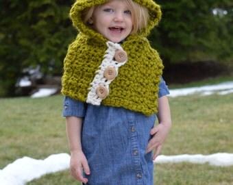 Crochet Dino Hooded Cowl. Toddler Hat. 2T-4T.