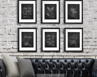 Willys Jeep Decor Wall Art Prints set of 6 unframed prints, Antique military vehicle parts patent, Military decor, Army decor, Army gift