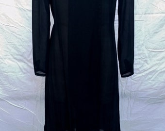 Gorgeous Classic late 1970's early 1980's black Jody of California Dress