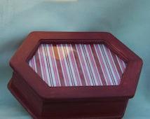 Six sided small wood jewelry box