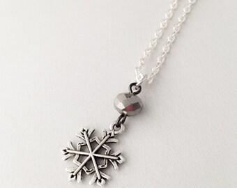Snowflake Christmas Necklaces - Snowflake Necklace - Snowflake Jewelry