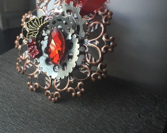 Steampunk Christmas Ornament - Christmas Decorations - Christmas Ornament w/ Gears - Christmas Ornaments - Steampunk Chrismas Ornaments