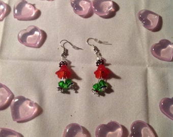 Christmas bell dangle earrings