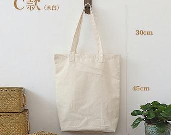 Custom printed tote canvas personalize LOGO black/ white /creamy white bag-xyhk21