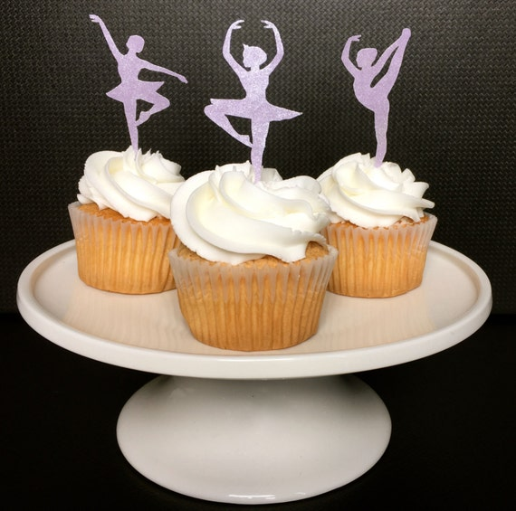 Dance Party, Cupcake Toppers, Ballerina, Ballet Party, Dancer, Edible, Wafer Paper, Sparkle Dusted, 12, Please READ Item Details