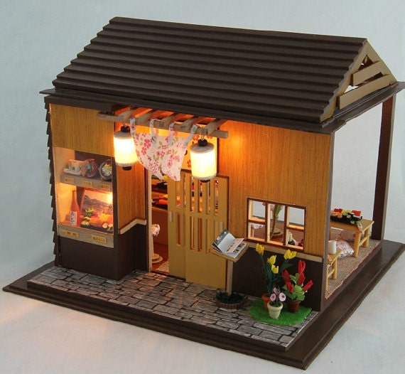 DIY Miniature Sushi House Dollhouse Kit By KoolKro On Etsy