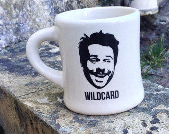 Wildcard Charlie Ceramic Coffee Mug - Sturdy Vintage Diner Mug - Handmade - Kiln Fired - Comedy - TV References - Funny - Friendship
