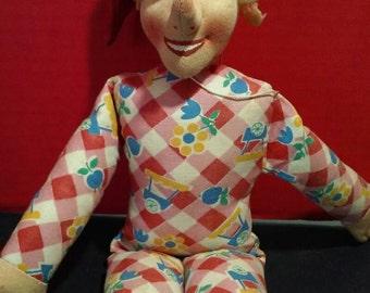 Handmade Artist Felt Rag Elf 12 inches