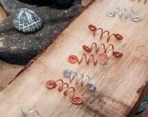 Viking style hair bead - Viking hair jewelry - Hair Spiral - Hair coils - Hair accessory - Dreadlock accessories - Beard jewelry - bead