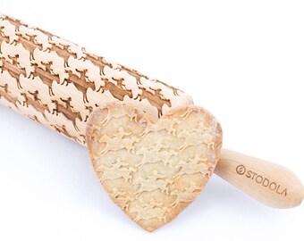 Bruch in einem Pferd - geprägte, gravierte Nudelholz für cookies