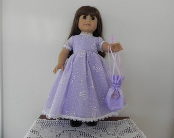 American Girl Party Dress with handbag