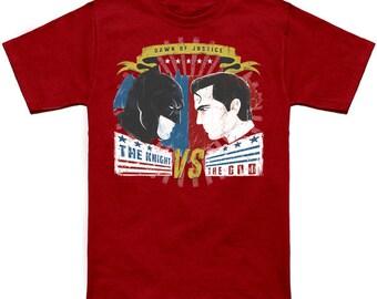 Batman vs Superman Shirt | PREMIUM QUALITY | Dawn of Justice | DC Comics | Superhero | Comic Tee | Geek Clothing | T-Shirt | Geek Tee