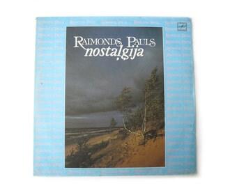 Vintage vinyl Raimonds Pauls Vinyl Record, Collectable Vinyl Record, Raimonds Pauls, retro music, Soviet music
