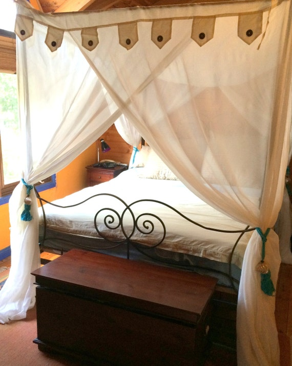 Like this item? & Beautiful Box 4 poster 100% cotton Bali Style bed canopy
