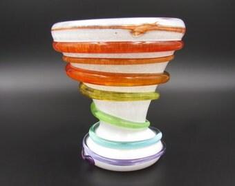 Colorful Ice Cream Sundae Cup, Rainbow Dessert Dish, Frozen Treat Dish, Rainbow Ice Cream Dish, Dessert Bowl