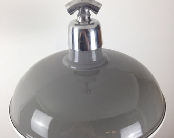 Grey Factory Ceiling Light