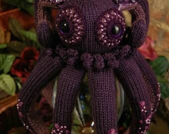 Amethyst Octopus. Octopus. Soft toy. Art doll. Ocean theme. Knitted octopus.