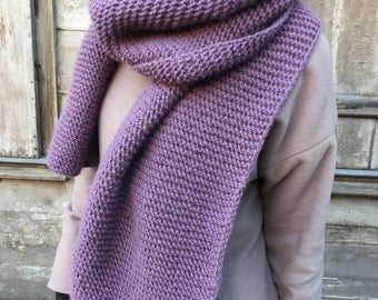Chunky long wool scarf - many colours available