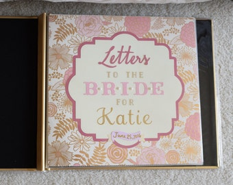 Letters to the Bride Scrapbook 12x12 - Custom Made