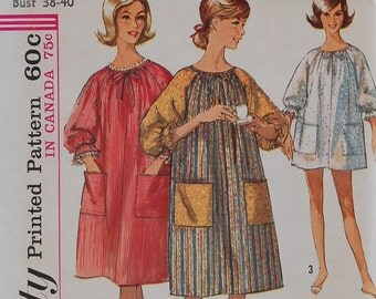 Misses Size Large 18-20, Uncut, 60s Vintage Pattern, Simplicity 6074, Complete Dress Pattern, Float, Lounge Dress, Muu Muu, House Dress