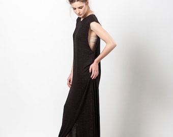 SALE 25% OFF Maxi Dress Summer, Black Dress Long, Sleeveless Maxi Dress, Black Day Dress, The Chicoholic