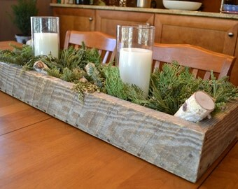 Table Centerpiece Box Made From Reclaimed Shipping Pallets