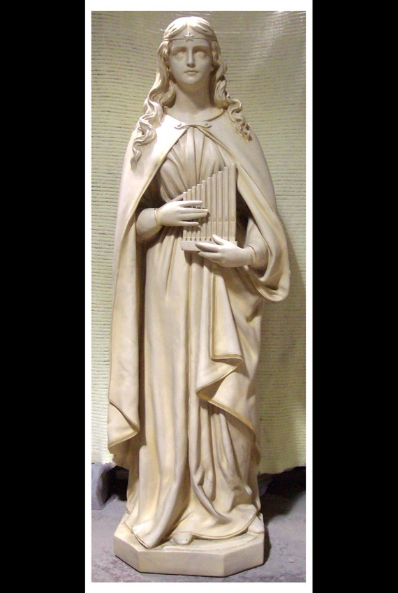 "St. Cecilla Fiberglass 61"" Catholic Christian Religious Statue"