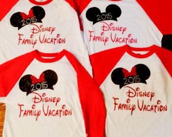 Disney Family Vacation Baseball Tee