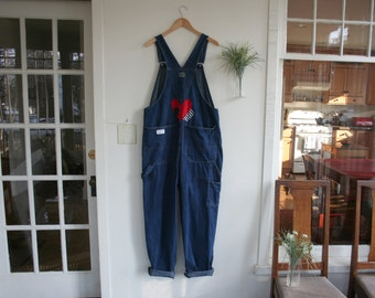 Recycled Upcycled Bib Overall Jeans / Custom Hand Made Vintage Bibs / - by Breathe-Again Clothing