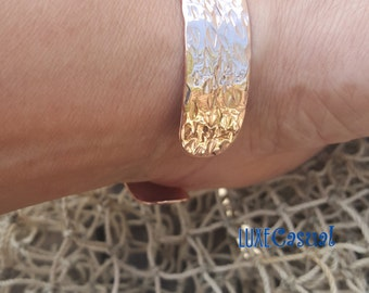 Hammered Copper Cuff, Cuff Bracelet