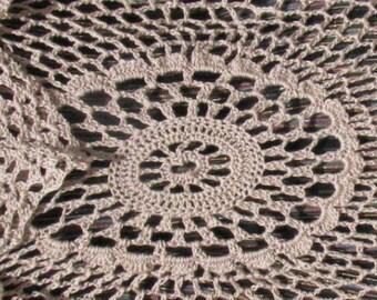 Linen Circular Crocheted Vest